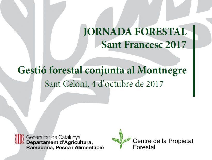 Jornada forestal Sant Francesc 2017 sobre gestió forestal conjunta